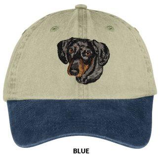 Dachshund Hat - Embroidered (Black Tan)