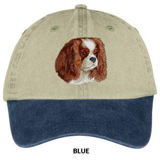 Cavalier Spaniel Hat - Embroidered (Blenheim)