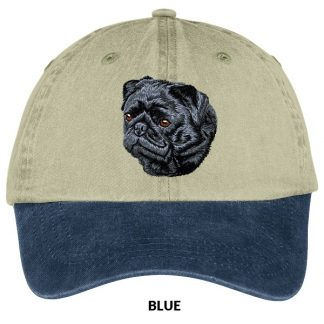 Pug Hat - Embroidered (Black)