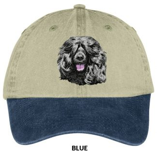 Portuguese Water Dog Hat - Embroidered (Black)