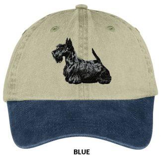 Scottish Terrier Hat - Embroidered (Black)