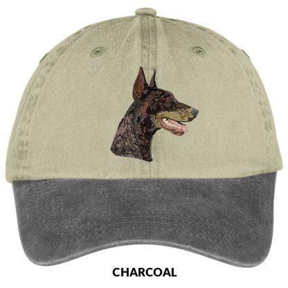 Doberman Pinscher Hat - Embroidered (Red)