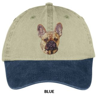 French Bulldog Hat - Embroidered (Fawn)