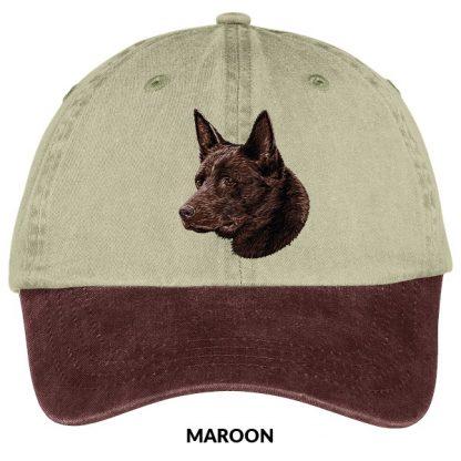 Australian Kelpie Hat - Embroidered (Chocolate)
