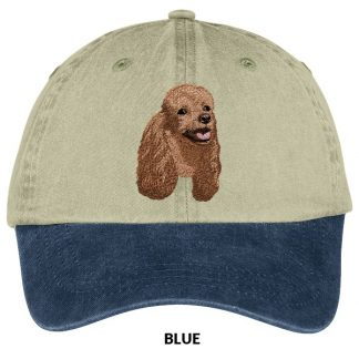 Brown Poodle Hat - Embroidered