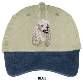 White Poodle Hat - Embroidered