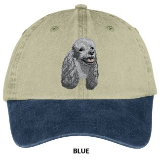 Silver Poodle Hat - Embroidered