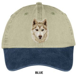 Siberian Husky Hat - Embroidered (Red)