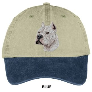 Pitbull Terrier Hat - Embroidered (White)