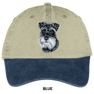 Schnauzer Hat - Embroidered (Uncropped)