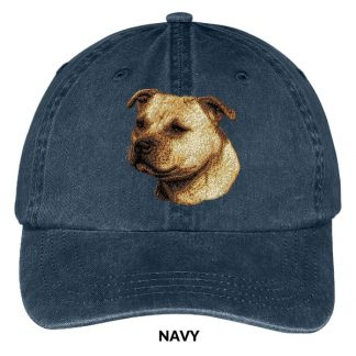 Staffordshire Bull Terrier Hat - Embroidered II (Fawn)