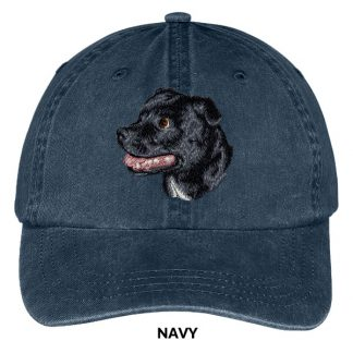 Staffordshire Bull Terrier Hat - Embroidered II (Black)