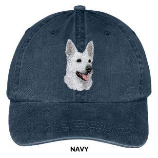 German Shepherd Hat - Embroidered II (White)