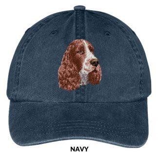 Springer Spaniel Hat - Embroidered II (Liver)