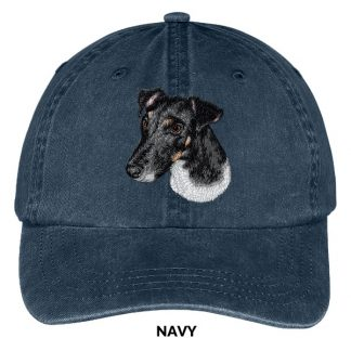 Smooth Fox Terrier Hat - Embroidered II