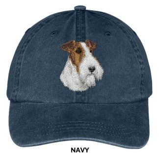 Wire Fox Terrier Hat - Embroidered II