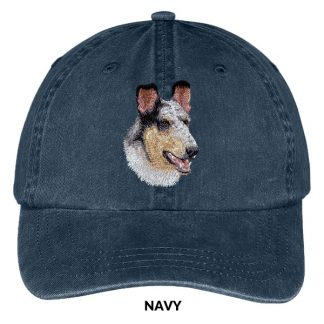 Collie Hat - Embroidered II (Smooth Blue Merle)