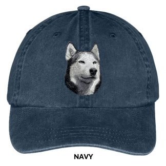 Siberian Husky Hat - Embroidered II