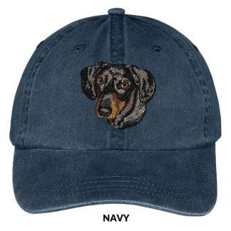 Dachshund Hat - Embroidered II (Black Tan)