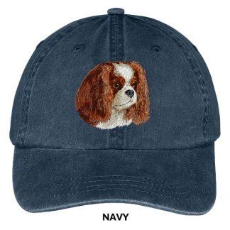 Cavalier Spaniel Hat - Embroidered II (Blenheim)
