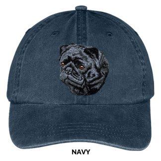 Pug Hat - Embroidered II (Black)