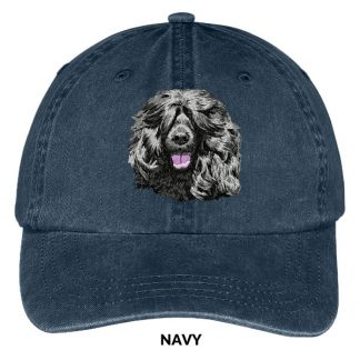 Portuguese Water Dog Hat - Embroidered II (Black)