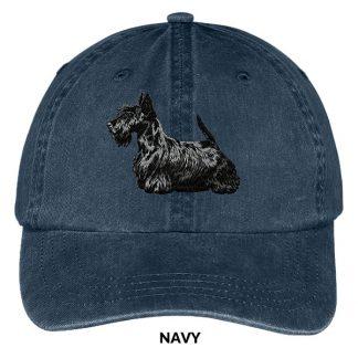 Scottish Terrier Hat - Embroidered II (Black)