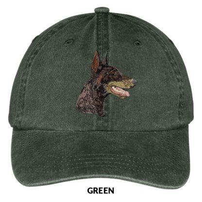 Doberman Pinscher Hat - Embroidered II (Red)