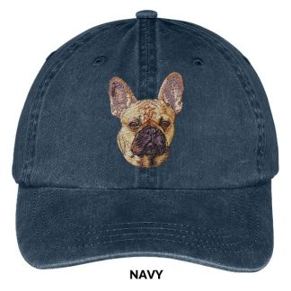 French Bulldog Hat - Embroidered II (Fawn)