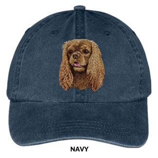 Ruby Cavalier Spaniel Hat - Embroidered II