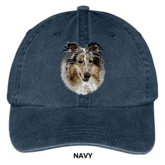 Collie Hat - Embroidered II (Blue Merle)