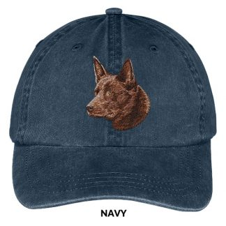 Australian Kelpie Hat - Embroidered II (Red)