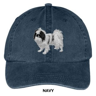 Japanese Chin Hat - Embroidered II (Black)