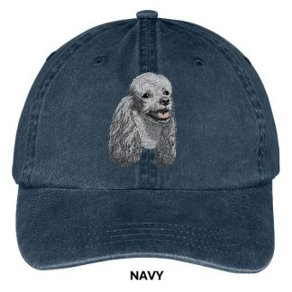 Silver Poodle Hat - Embroidered II