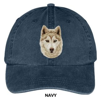 Siberian Husky Hat - Embroidered II (Red)