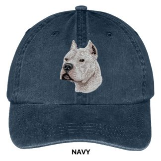 Pitbull Terrier Hat - Embroidered II (White)