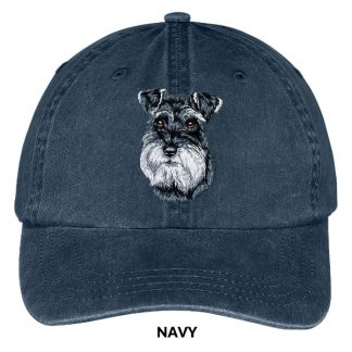 Schnauzer Hat - Embroidered II (Uncropped)
