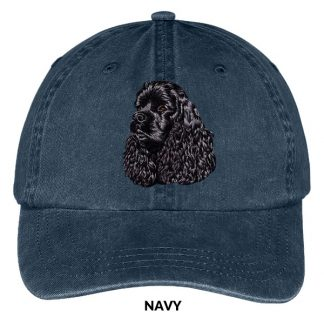 Black Cocker Spaniel Hat - Embroidered II
