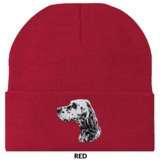 English Setter Knit Cap - Embroidered