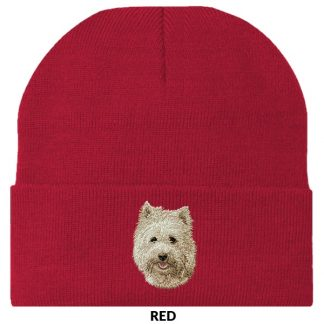 Cairn Terrier Knit Cap - Embroidered