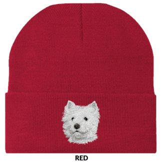 West Highland Terrier Knit Cap - Embroidered