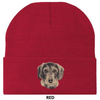 Wirehaired Dachshund Knit Cap - Embroidered