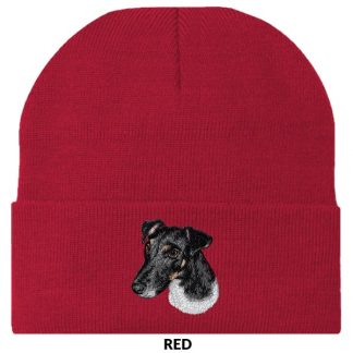 Smooth Fox Terrier Knit Cap - Embroidered