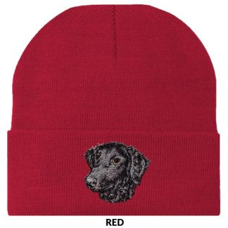 Curly Coated Retriever Knit Cap - Embroidered