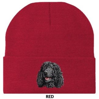Irish Water Spaniel Knit Cap - Embroidered