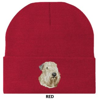 Soft Coated Wheaten Knit Cap - Embroidered