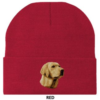 Yellow Lab Knit Cap - Embroidered