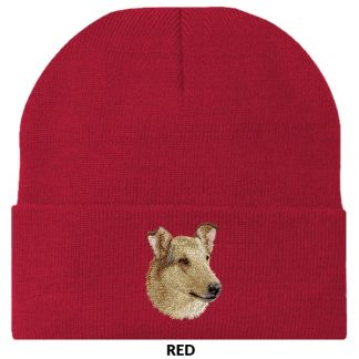 Collie Knit Cap - Embroidered (Smooth Sable)