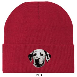 Dalmatian Knit Cap - Embroidered