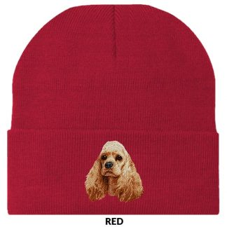 Cocker Spaniel Knit Cap - Embroidered